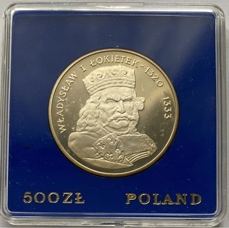 Moneta 500 zł 1986 Władysław I Łokietek