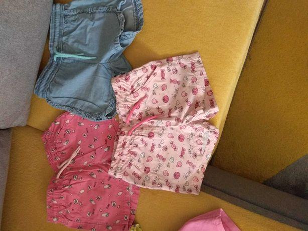 Krótkie spodenki dla dziewczynki 98/104
