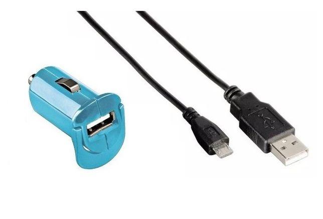 ŁADOWARKA USB samochodowa HAMA Picco 1A + kabel mircoUSB