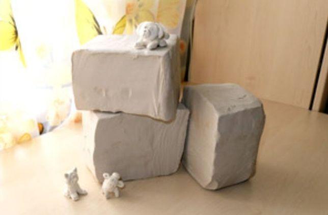 Глина белая для творчества 9 кг,керамическая масса, глина для лепки