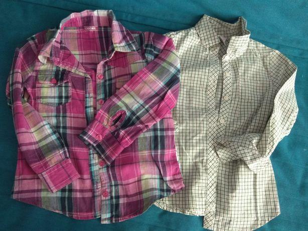 2 koszule krata dziewczynka