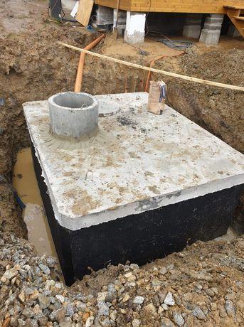 Zbiornik betonowy na gnoj gnojowice odchody szambo przydomowe