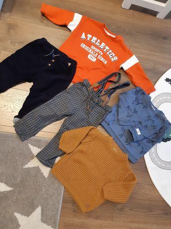 Sweter Zara 86 ochra sweterek gruby dla chłopca jak nowy rudy