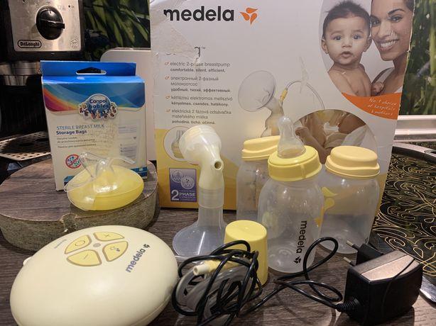 Продам молокоотсос Medela swing электрический с подарками