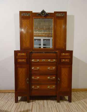 Sypialnia Liberty secesja - włochy łóżko komoda przełom XIX-XX marmur
