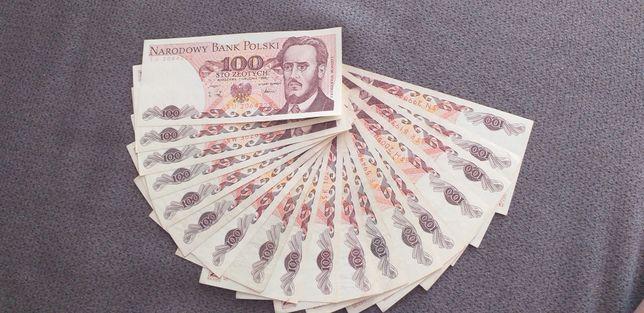 Banknoty 100 zł z 1988 r i 1986 r