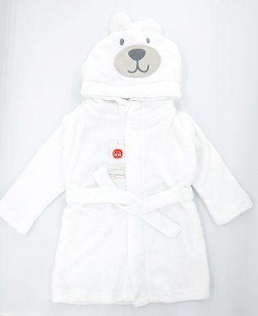Белый халат детский мягенький 68 - 74 см Польша Cool Club дитячий