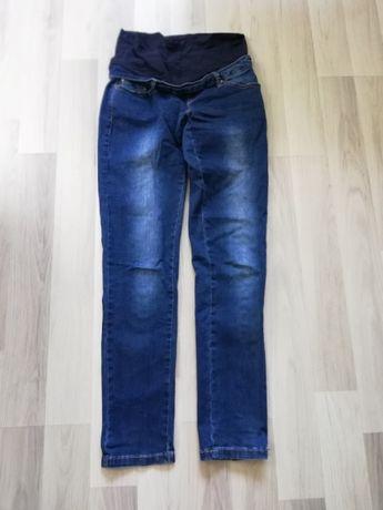 Spodnie ciążowe jeansy granatowe S