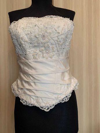 Свадебное платье из итальянской тафты