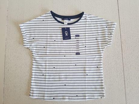 Nowa koszulka Okaidi w serduszka rozm. 116