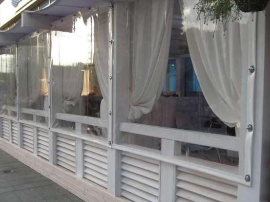 Мягкие окна ПВХ, шторы ПВХ на поворотных люверсах