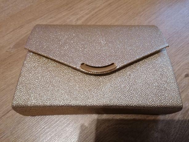 Mała złota kopertówka