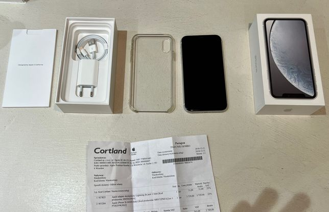 Apple iPhone XR 64gb biały + etui gratis!