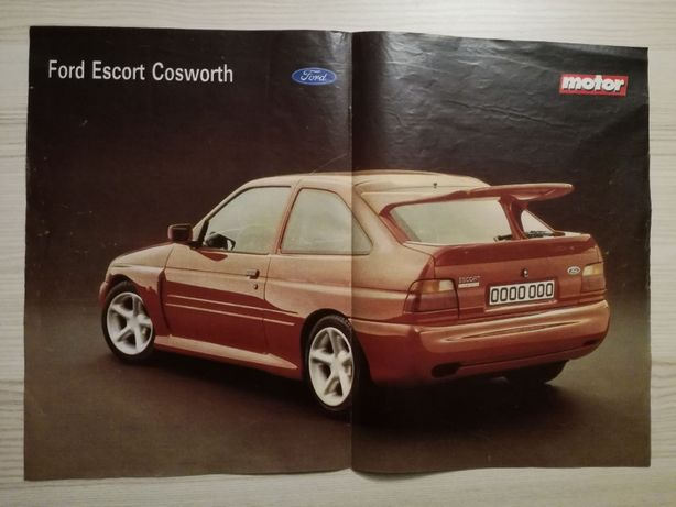 Plakat Poster Ford Escort RS Cosworth 33,5cm x 47,5cm Cossie 4x4 4WD