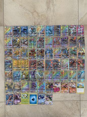 Karty pokemon 66 kart każda inna świecące kolekcja kolekcjonerskie