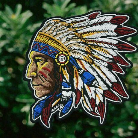 Indianin piękna haftowana naszywka inne wzory naszywki