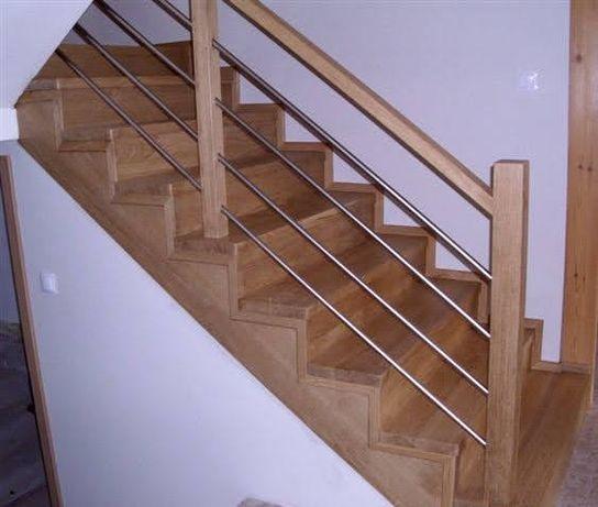 Schody drewniane, tralki drewniane, poręcze drewniane , balustrady