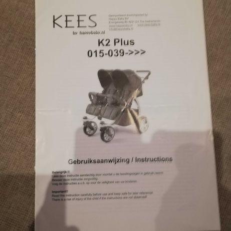 Wózek rok po roku Kees Twin K2 Plus