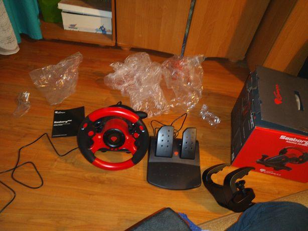 Kierownica Genesis seaborg 300 racing wheel pedały pc Nowa