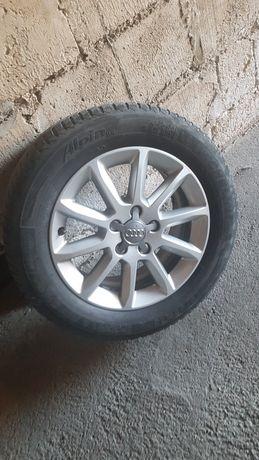 Koła 16/55/225 Audi z oponami zimowymi  Michelin