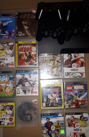 Sprzedam PlayStation 3 500gb 4 pady 14 gier