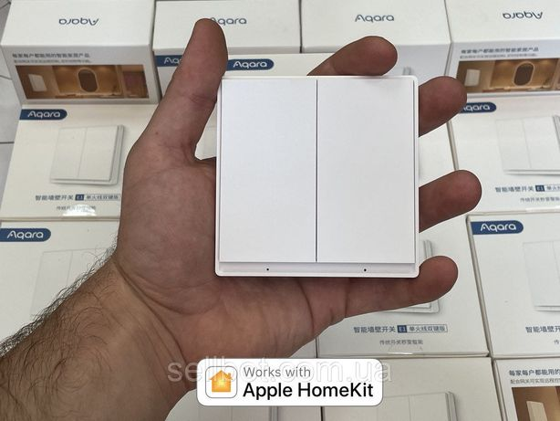 ⫸Розумний вимикач Aqara E1 Wall Switch EU QBKG39LM Выключатель HomeKit