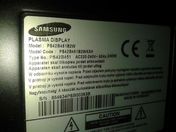 samsung telewizor ps42b451b2w