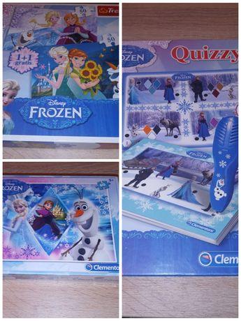 Puzzle i gra interaktywna z bohaterami W krainie lodu