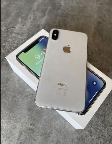 Iphone X 64gb kolor bialy/silver z zestawem stan idealny