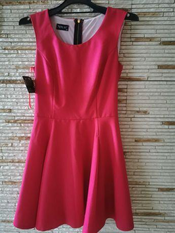 Elegancka czerwona sukienka rozm. 38
