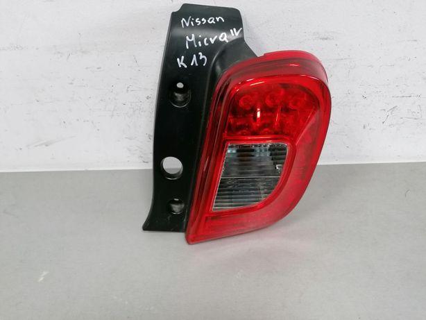 lampa lewy tył Nissan Micra k13 Lift LED EU
