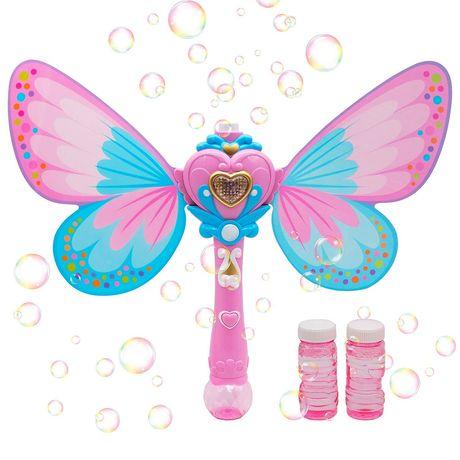 Волшебная палочка мыльные пузыри с крыльями, бульбашки, свет, звук