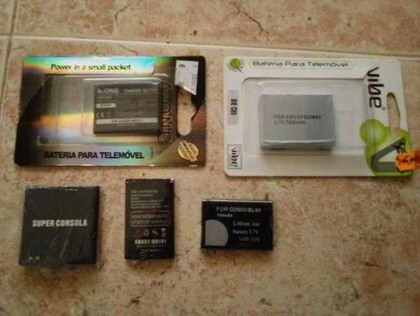 baterias novas e embaladas para telemovel