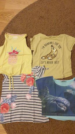 Koszulki T-Shirt, 4 sztuki H&M r. 128/134