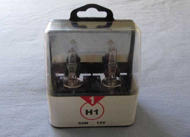 Lote 2 Lâmpadas H1 55W - 12V (NOVAS - faróis dianteiros)