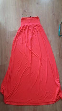 Sukienka neonowe plażowa długa przewiewna XS