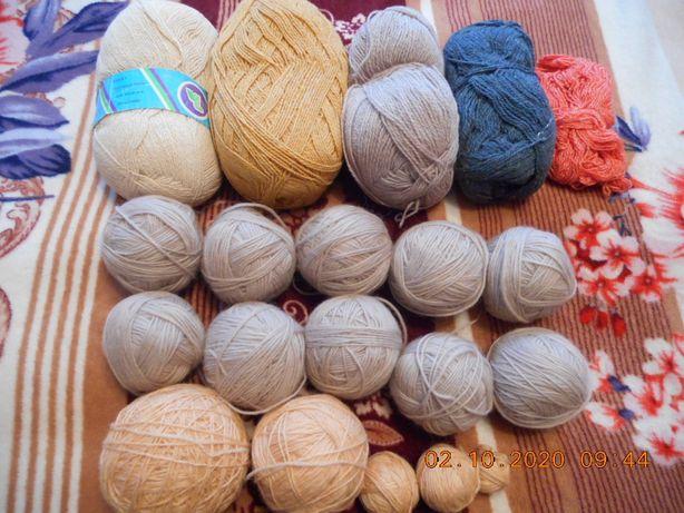 Пряжа, нитки для вязания.