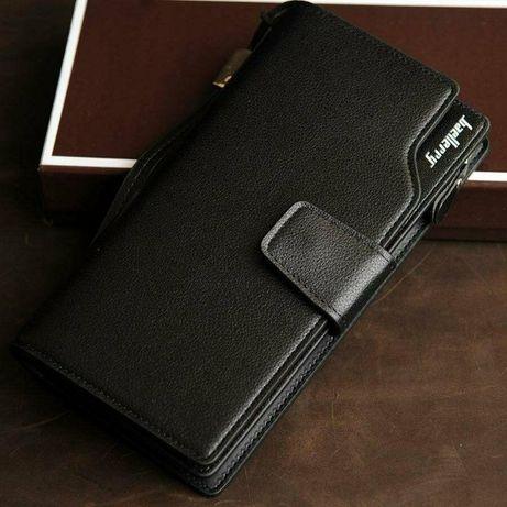 Стильный мужской клатч (портмоне) Baellerry Business на 23 карты