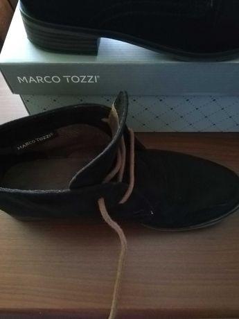 Buty zamszowe damskie Marco Tozzi rozmiar 37