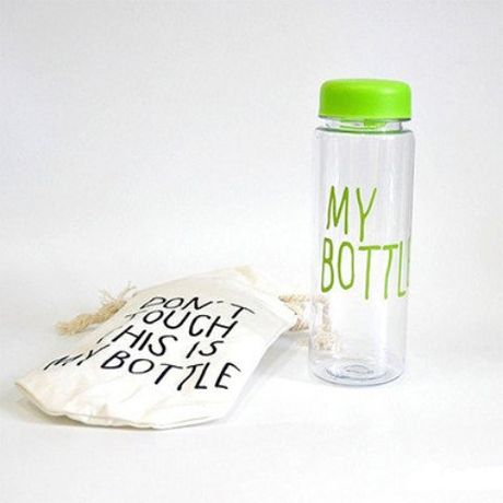 Бутылочка для воды My Bottle в чехле Зеленая