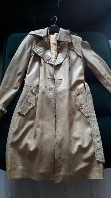 Płaszcz ze skóry rozmiar L