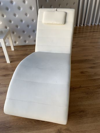 Chaise longue branca