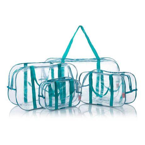 Прозрачные сумки Nika Torri в роддом набор из четырёх штук