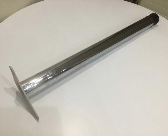 Опора мебельная регулируемая 60х710-760 мм Хром( нога для стола)