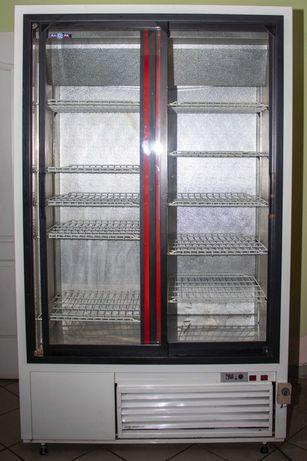 Szafa chłodnicza przeszklona stali nierdzewna928 l sch-SR/1200/w