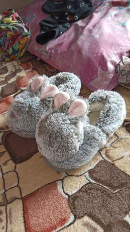 Тапочки меховые зайки