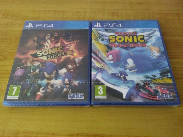 Conjunto PS4: Sonic Forces + Team Sonic Racing (portes incluídos)