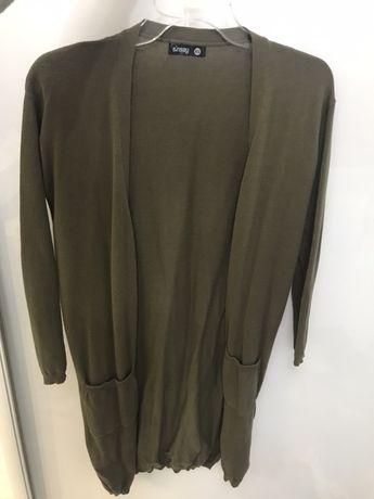 Długi sweterek Khaki!