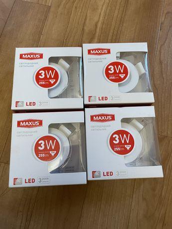 4шт LED-светильник точечный MAXUS SDL