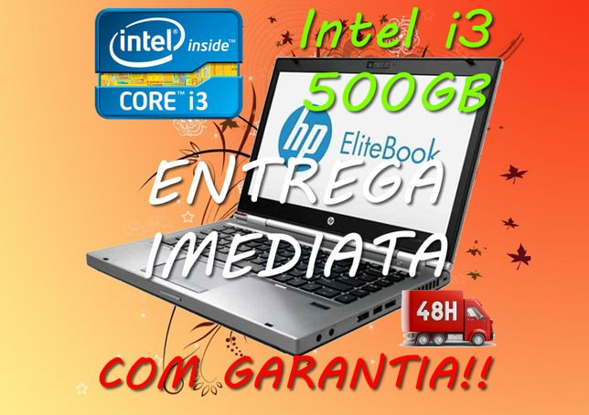Portátil HP EliteBook 8470p i3 4Gb 500Gb Win 10 Pro PT webcam i5 i7 i9